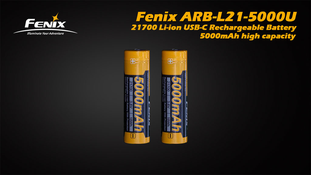 ARB-L21-5000U 21700 Li-ion USB Rechargeable Battery