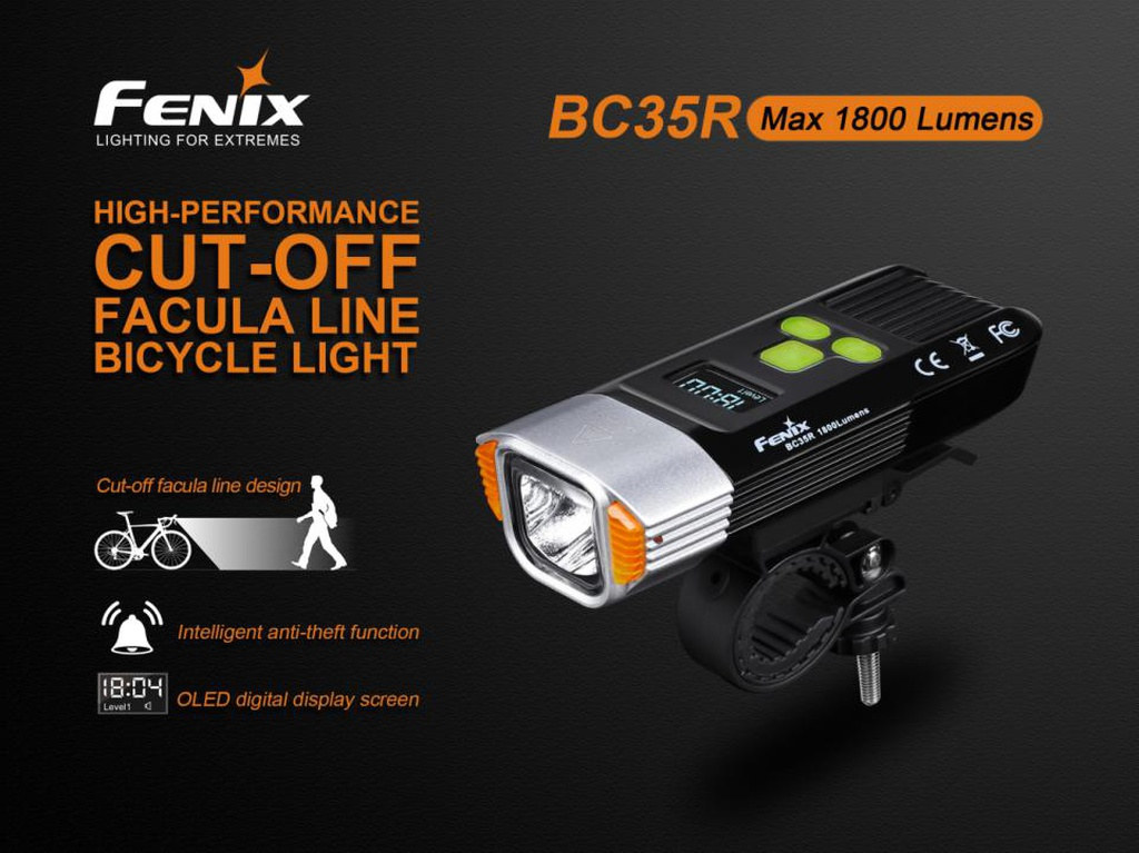 BC35R High-performance Rechargeable Bike Light